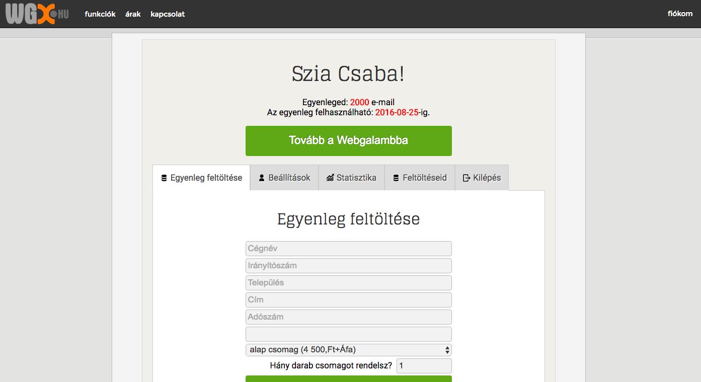 A Webgalamb hírlevélküldő már előfizetéses formában is elérhető WGX néven.